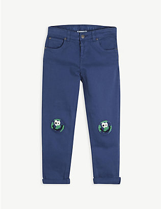 STELLA MCCARTNEY: World-embroidered stretch-cotton trousers 4-10 years