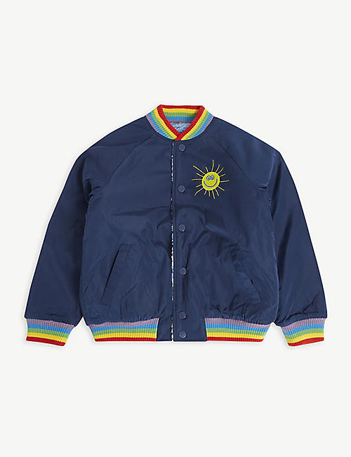 STELLA MCCARTNEY: Weather reversible satin and teddy bomber jacket 4-12 years