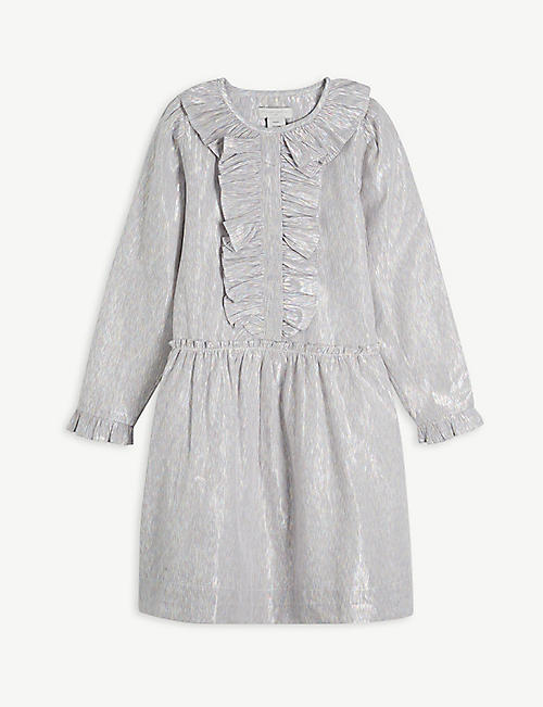 STELLA MCCARTNEY: Metallic cotton-blend dress 4-16 years