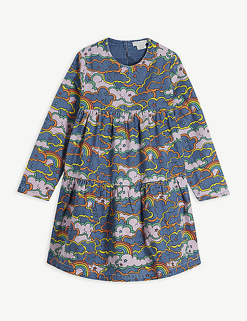 STELLA MCCARTNEY: Graphic-print cotton dress 4-16 years