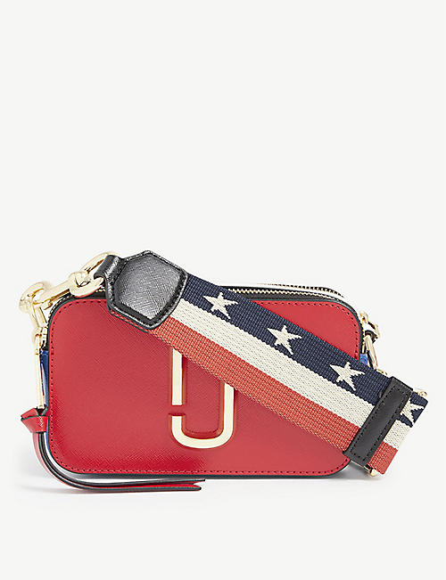 MARC JACOBS: Snapshot USA saffiano leather shoulder bag