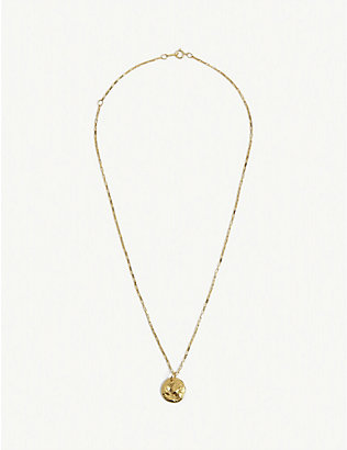 ALIGHIERI: The Dark Water 24ct gold-plated bronze necklace