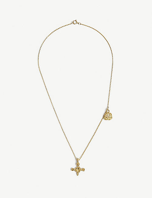 ALIGHIERI: The Memory Desire 24ct gold-plated bronze necklace