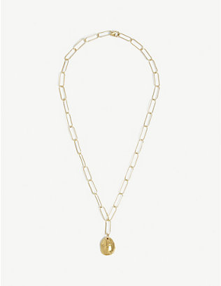 ALIGHIERI: The Clairvoyant 24ct gold-plated necklace