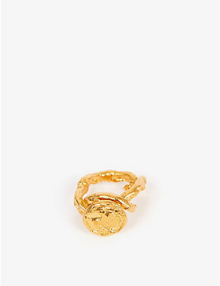 ALIGHIERI: A Wasteland 24-carat gold-plated ring
