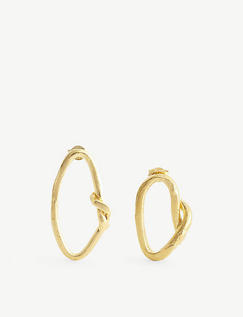 ALIGHIERI: The Wasteland 24ct gold-plated bronze hoop earrings