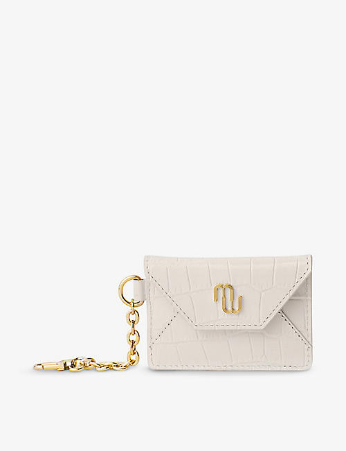 MAJE: Simon crocodile-embossed leather purse