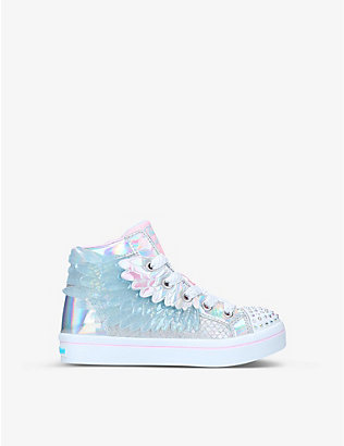 SKECHERS:Twinkle Toes Lites 2.0 Unicorn Wings 发光运动鞋 6-8 岁