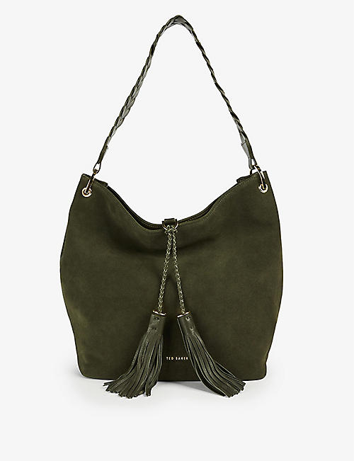 TED BAKER: Paila suede hobo shoulder bag