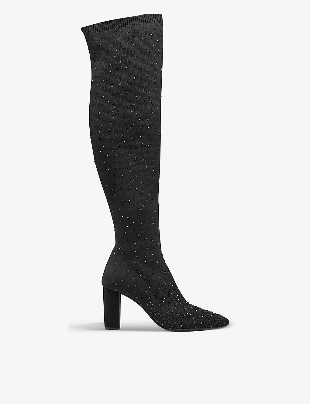 DUNE: Starstruck diamante-embellished over-the-knee boots