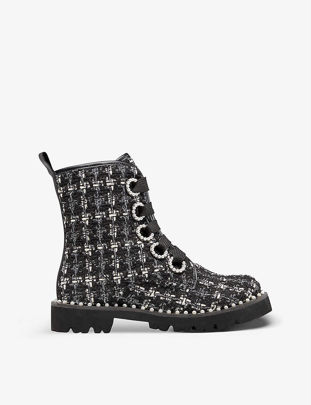 DUNE: Purla checked ankle boots