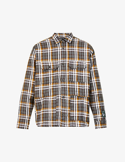 REESE COOPER: Check-print relaxed-fit cotton shirt