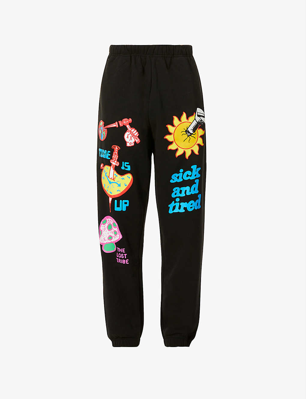 OBEY: Time Up graphic-print relaxed-fit cotton-blend jogging bottoms