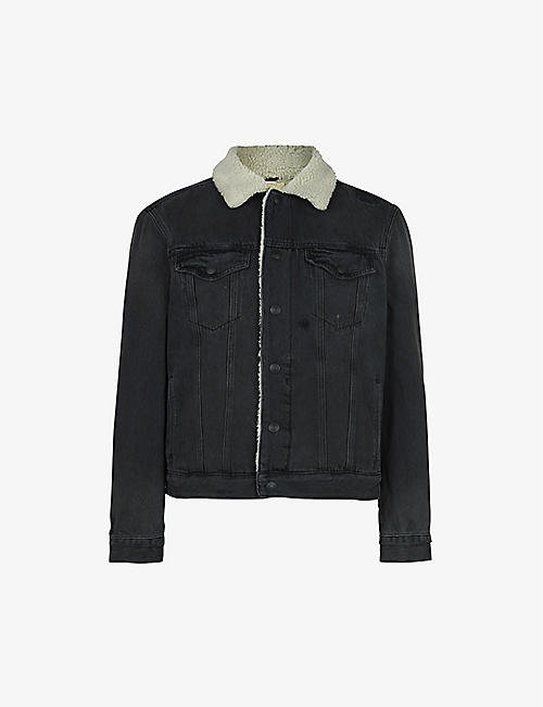 ALLSAINTS: Morton Sherpa-lined denim jacket