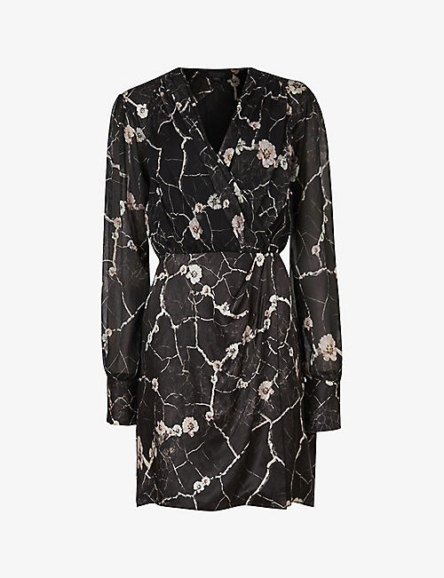 ALLSAINTS: Limina Hope woven mini dress