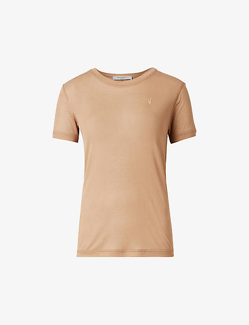 ALLSAINTS: Francesco semi-sheer crepe T-shirt