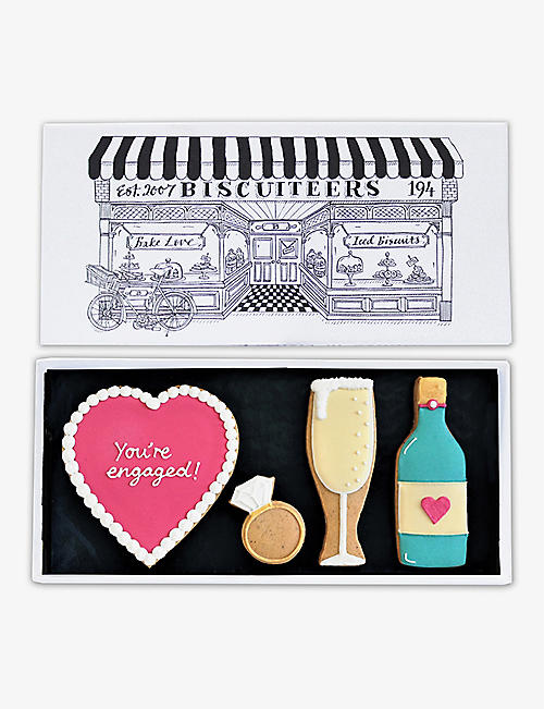 BISCUITEERS: Engagement letterbox biscuits 150g