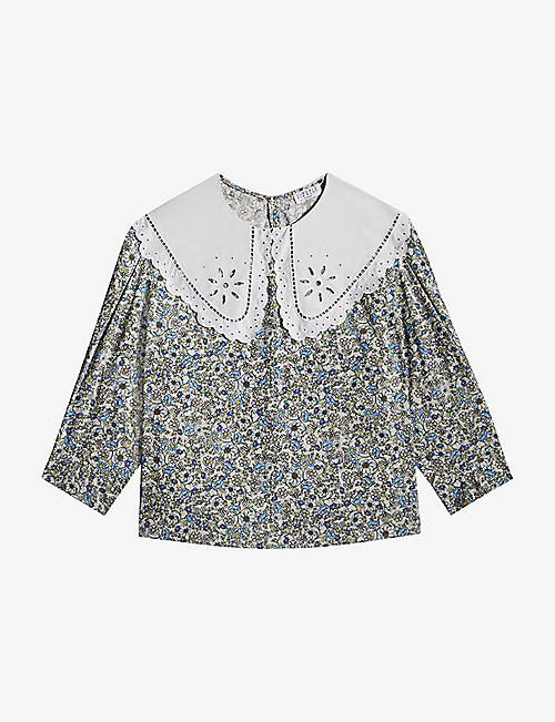 CLAUDIE PIERLOT: Baby floral-print cotton top