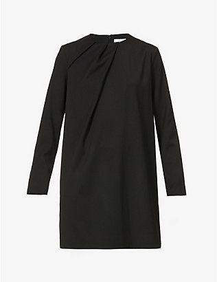 VICTORIA VICTORIA BECKHAM: Draped-neck woven mini dress