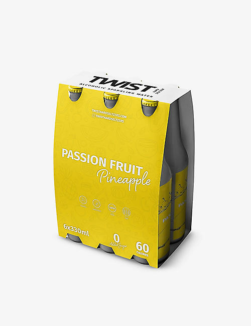 TWIST SELTZER: Twist passion fruit and pineapple hard seltzer 6x330ml