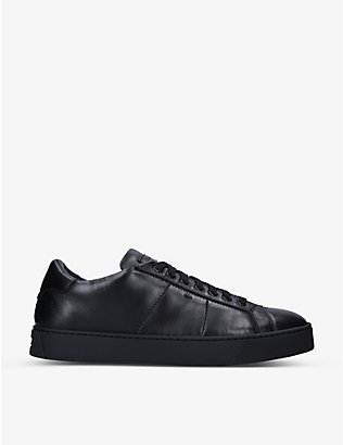 SANTONI: Gloria leather low-top trainers