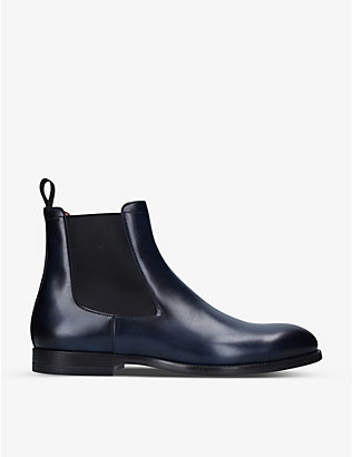 SANTONI: Newport leather Chelsea boots