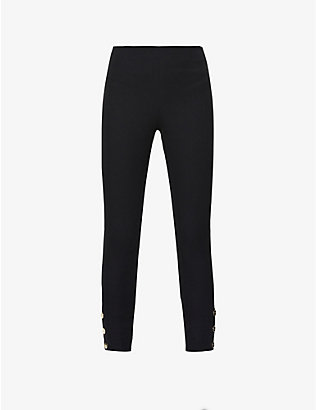 TED BAKER: Mid-rise stretch-cotton trousers