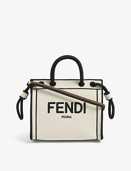 FENDI: Roma mini canvas tote bag