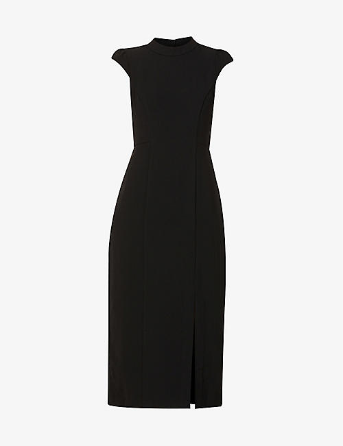 WHISTLES: High-neck stretch-crepe midi dress