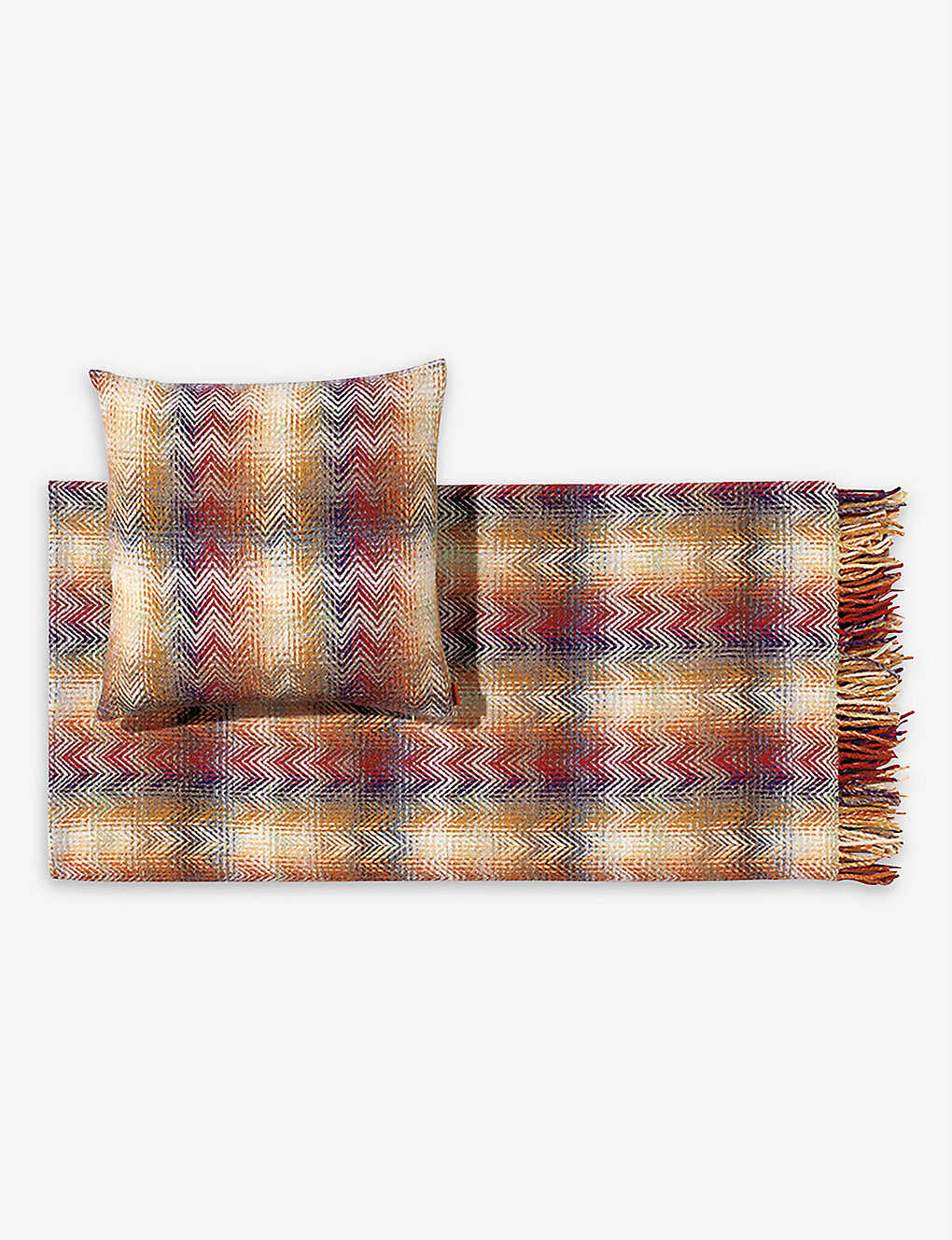 MISSONI HOME: Montgomery zig-zag wool-blend throw 130cm x 190cm