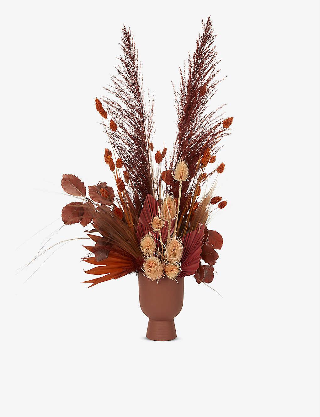 Your London Florist Exclusive Autumn Dried Flowers With Vase Selfridges Com