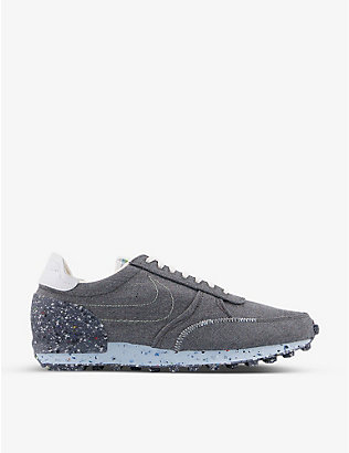NIKE: 70's-type suede and mesh trainers