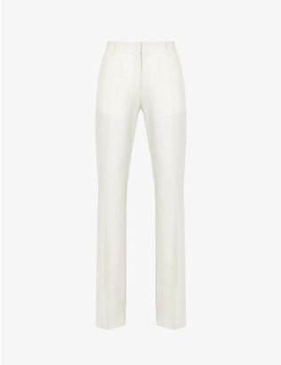 MSGM: Straight-leg high-rise wool-blend trousers