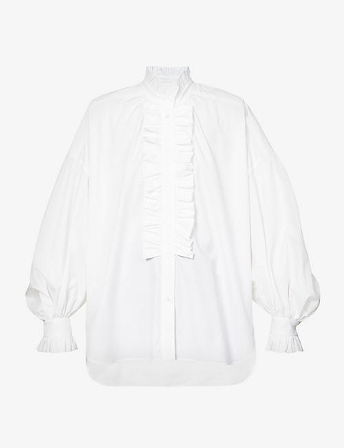 MSGM: Puffed-sleeve cotton shirt