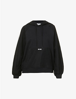 MSGM: Branded relaxed-fit cotton and tulle hoody