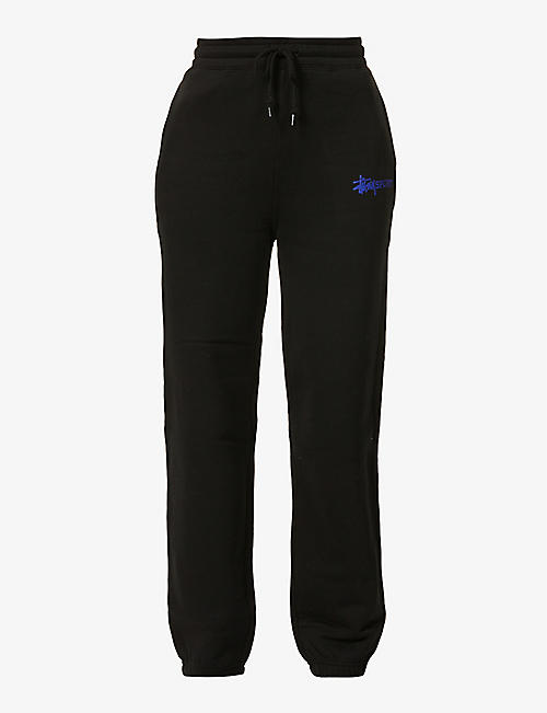 STUSSY: Logo-embroidered straight-leg mid-rise woven trousers