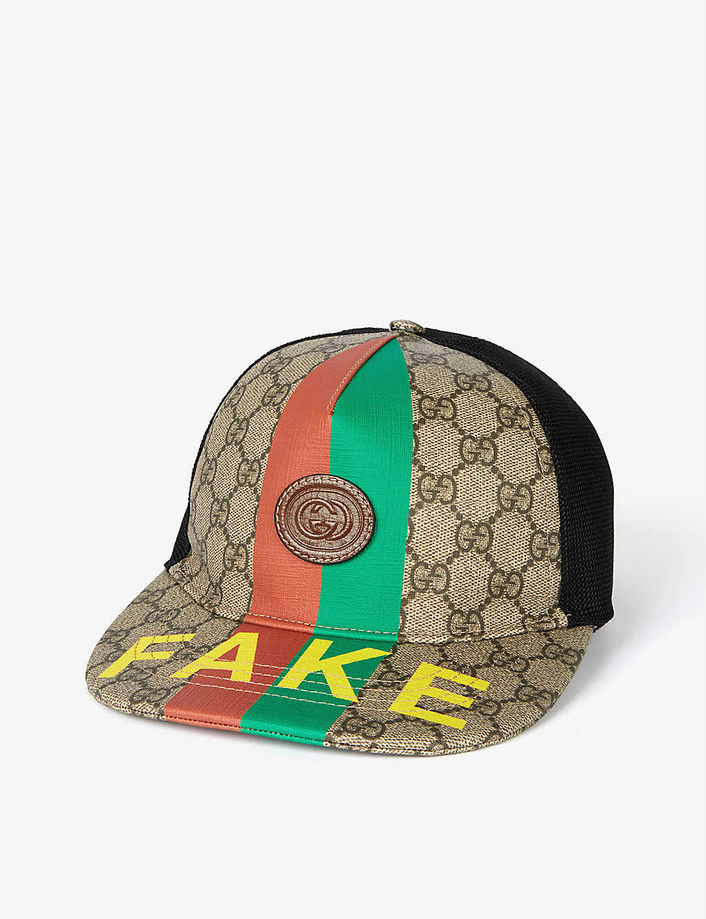 GUCCI: Fake/Not brand-patch cotton-blend baseball cap