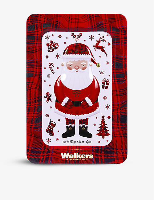 WALKERS: Santa Festive Shapes shortbread tin 250g