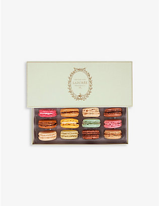 LADUREE: Incontournable macarons box of 12
