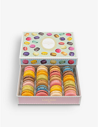 LADUREE: Gourmandise macarons box of 24 384g