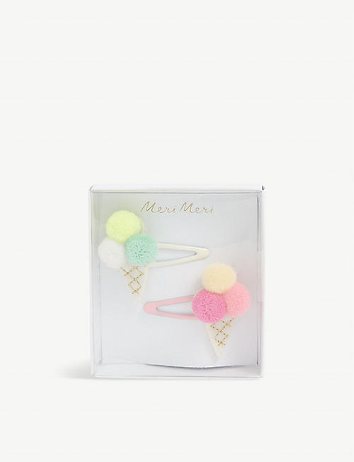 MERI MERI: Ice cream cone hair clips pack of two