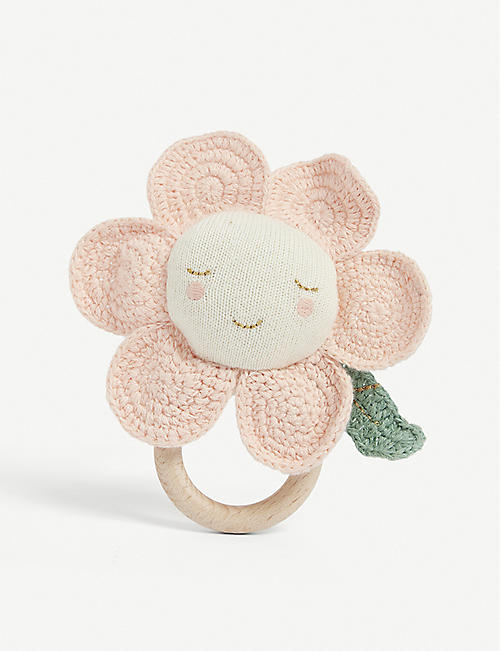 MERI MERI: Daisy cotton rattle