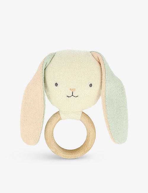 MERI MERI: Bunny cotton rattle