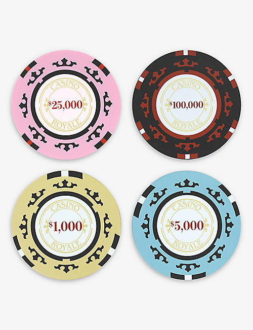 PALADONE: Casino Royale poker chip coasters