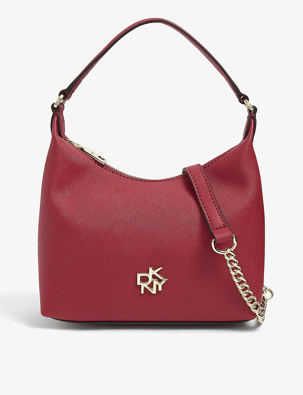 DKNY: Mini Pouchette leather shoulder bag