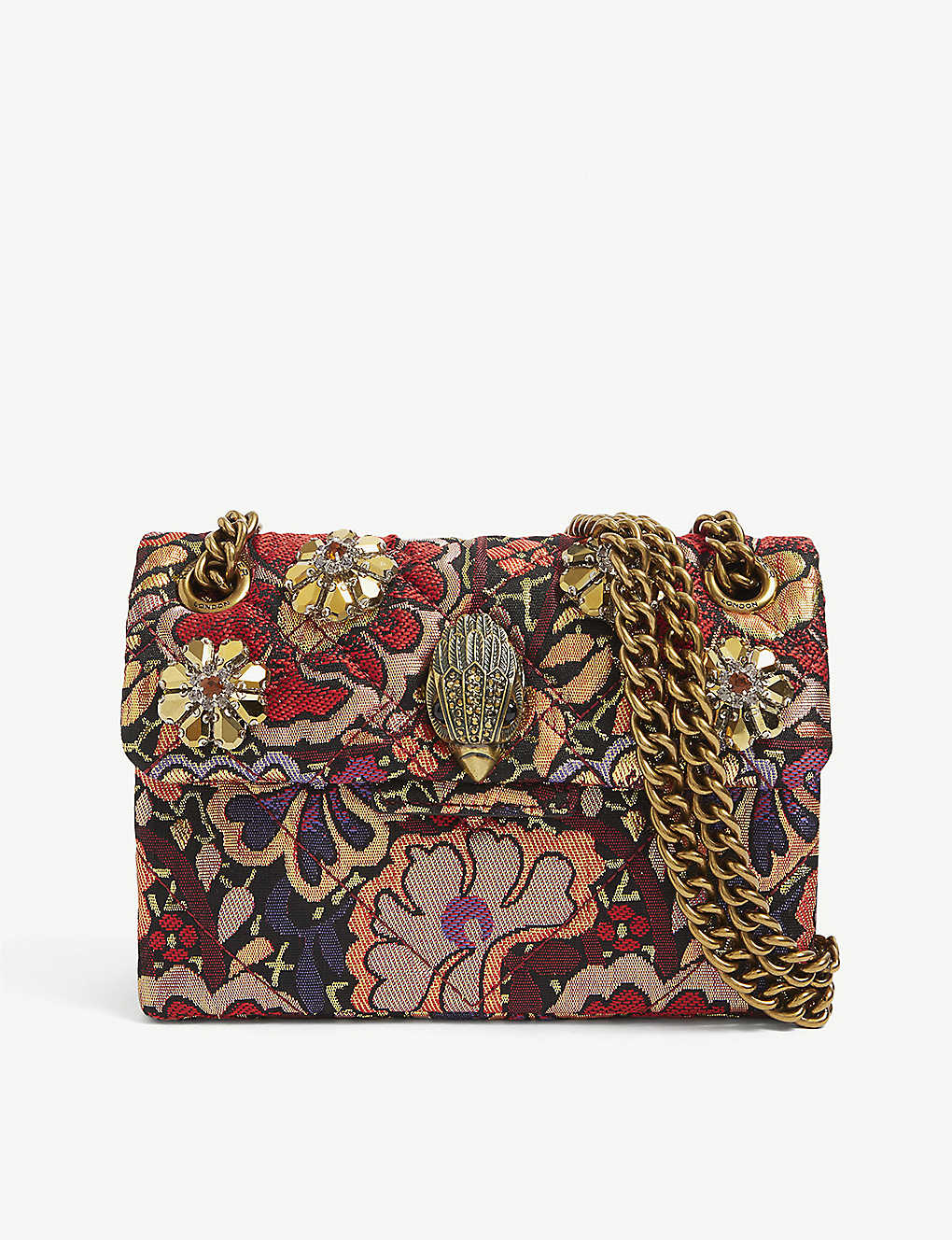 KURT GEIGER LONDON: Mini Kensington woven bag