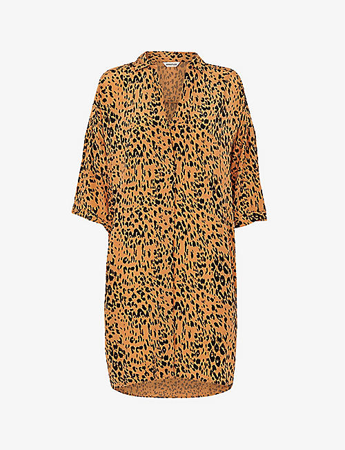 WHISTLES: Lola animal-print woven midi dress
