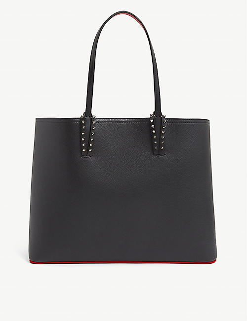 CHRISTIAN LOUBOUTIN: Cabata stud-embellished leather tote bag