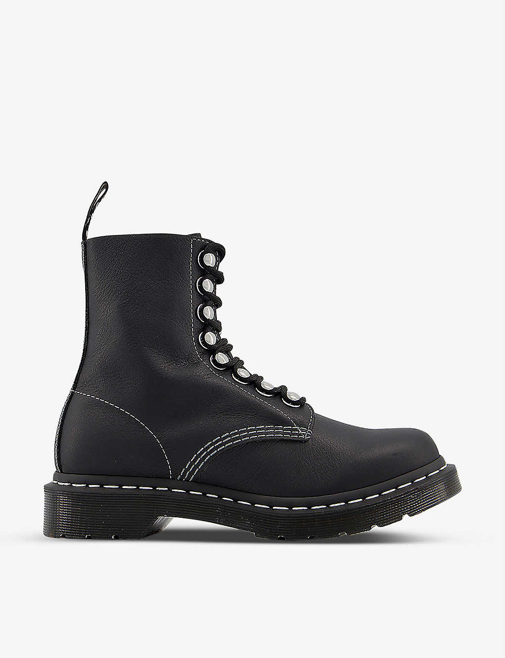 DR. MARTENS: 1460 Pascal Hardware leather ankle boots