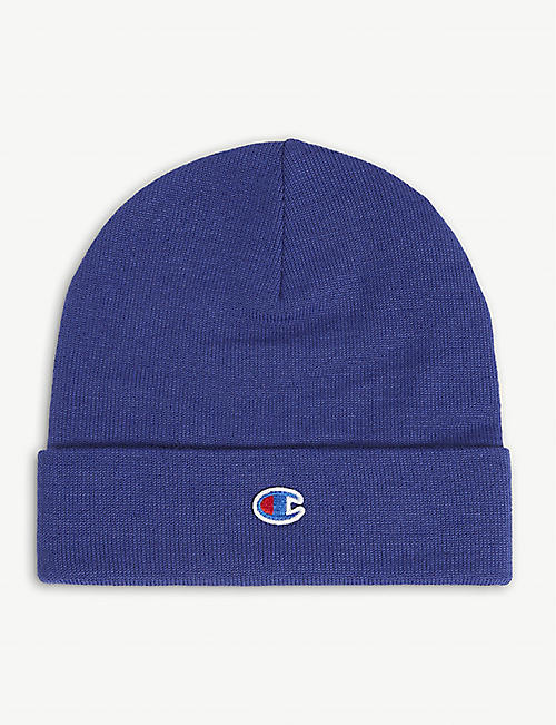 CHAMPION: Logo-embroidered wool-blend beanie hat